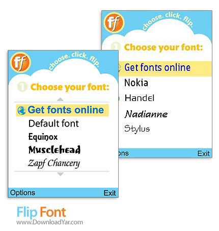 دانلود Monotype Imaging FlipFont v3.1.1 - نرم افزار تغییر فونت