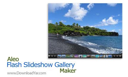 دانلود 1.6 Aleo Flash Slideshow Gallery Maker - نرم افزار ساخت آلبوم تصاویر فلش و اسلایدشو