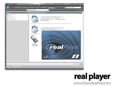 دانلود RealPlayer v11.1.1 Build 6.0.14.944 - نرم افزار پخش انواع فرمت های دیجیتال