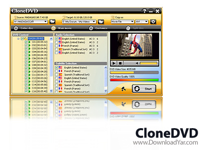 دانلود DVD X Studios CloneDVD v5.0.0.3 - نرم افزار رایت دی وی دی