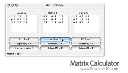 دانلود Matrix Calculator Pro v5.3 - نرم افزار حل آسان مسائل ماتریس درس ریاضی