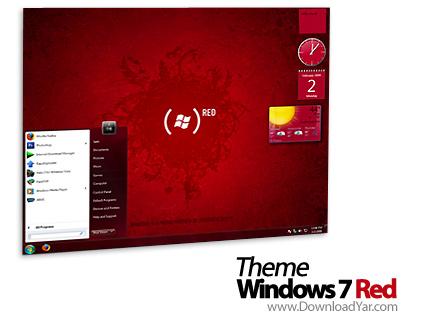 دانلود Theme Windows 7 Red - نرم افزار پوسته بسیار زیبا برای ویندوز محبوب 7
