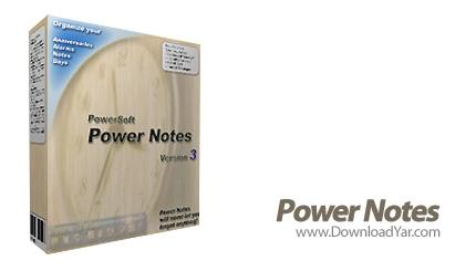دانلود Power Notes v3.47.1.3420 - نرم افزار ثبت یادداشت های روازنه