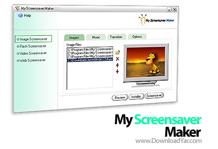دانلود My Screensaver Maker v4.80 - نرم افزار طراحی اسكرين سيور