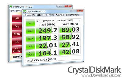 دانلود CrystalDiskMark v3.0 - نرم افزار تست سرعت هارد دیسک