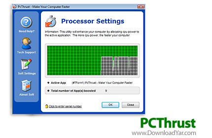دانلود PCThrust v1.3.22.2010 - نرم افزار الا بردن سرعت بازی و برنامه ها