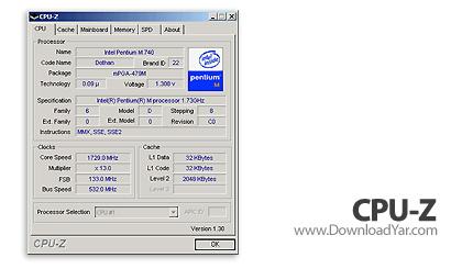 دانلود CPU-Z v1.45 - نرم افزار مشاهده اطلاعات کاملی از سیستم