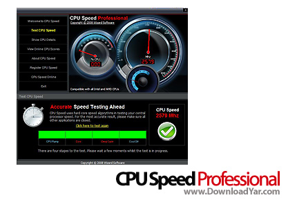 دانلود CPU Speed Professional v3.0.2.5 - نرم افزار افزایش سرعت CPU