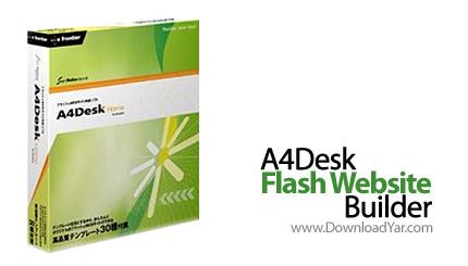 دانلود A4Desk Flash Website Builder v6.35 - نرم افزار ساخت وب سایت های فلش