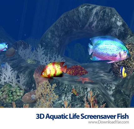 دانلود 3D Aquatic Life Screensaver Fish v1.1.0 - محافظ صفحه نمایش آکواریوم سه بعدی