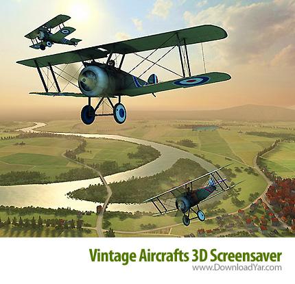 دانلود Vintage Aircrafts 3D Screensaver v1.0 - اسکرین سیور سه بعدی پرواز هواپیماهای قدیمی