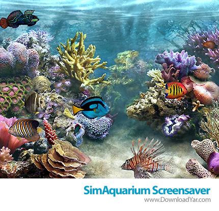 دانلود SimAquarium Screensaver v2.7 - محافظ صفحه نمایش آکواریوم مجازی زیبا