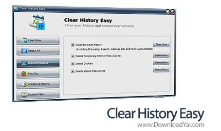 دانلود Clear History Easy v4.1.6.2 - نرم افزار پاکسازی ردپاهای آنلاین و آفلاین فعالیت های خود