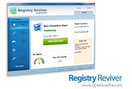 دانلود Registry Reviver v1.1.77 - نرم افزار پاکسازی و تعمیر خطاهای رجیستری