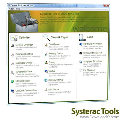 دانلود Systerac Tools for Windows 7 2010 v3.00 - نرم افزار نگهداری ویندوز 7