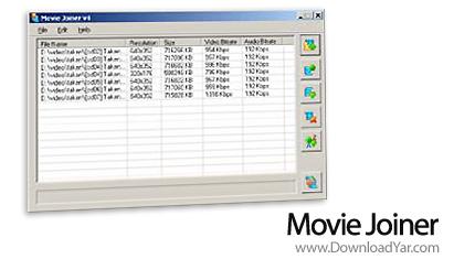 دانلود Movie Joiner v3.51 - نرم افزار پیوند فایل ها ی ویدیویی