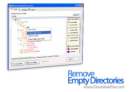 دانلود Remove Empty Directories v2.1 - نرم افزار پاکسازی هارددیسک از پوشه های خالی