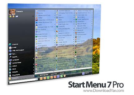 دانلود Start Menu 7 Pro v3.62 - نرم افزار تبدیل استارت ویندوز ایکس پی به ویندوز سون