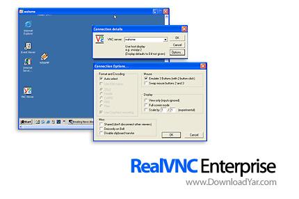 دانلود RealVNC Enterprise v4.5.3 - نرم افزار کنترل از راه دور یا Remote Desktop سیستم