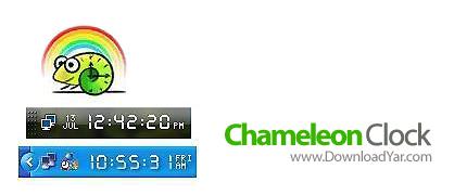 دانلود Chameleon Clock v5.1 - نرم افزار  ساعت های دیجیتالی