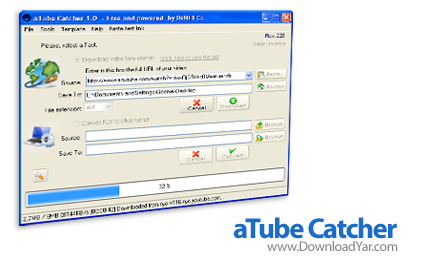دانلود aTube Catcher v2.0.352 - نرم افزار دانلود کلیپ های سایت های مختلف و تبدیل آنها