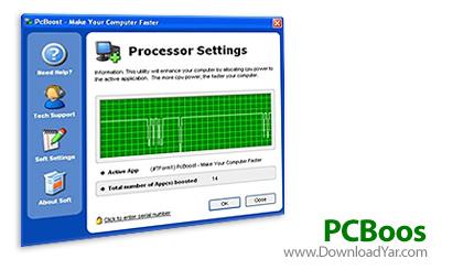 دانلود PGWARE PCBoost v4.4.26.2010 - نرم افزار افزایش عملکرد سیستم