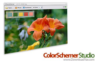 دانلود ColorSchemer Studio v2.1.0 - نرم افزار ساخت و ترکیب رنگ ها