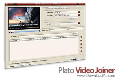 دانلود Plato Video Joiner v11.06.01 - نرم افزار ترکیب فایل های مختلف تصویری