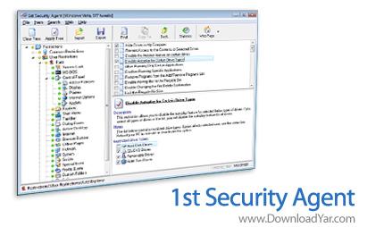 دانلود 1st Security Agent v9.5 - نرم افزار کنترل کاربران مجاز سیستم