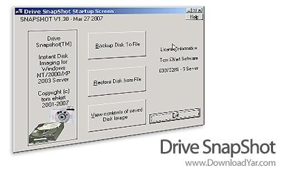 دانلود Drive SnapShot v1.40.0.15162 - نرم افزار تهیه نسخه پشتیبان از اطلاعات