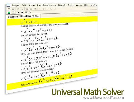 دانلود Universal Math Solver v7.0.0.5 - نرم افزار حل مسائل ریاضی