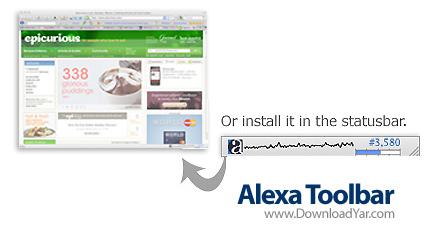 دانلود Alexa Toolbar v9.39 - نوار ابزار الكسا مخصوص اینترنت اکسپلورر