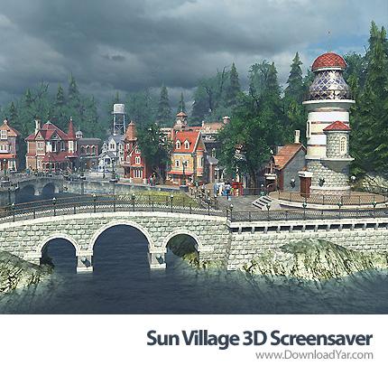دانلود Sun Village 3D Screensaver v1.1.0822 - محافظ صفحه نمایش سه بعدی زیبای دهکده