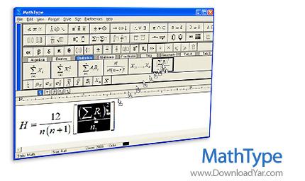 دانلود MathType v6.7 - نرم افزار تایپ فرمول های ریاضی