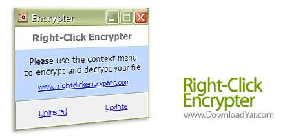 دانلود Right-Click Encrypter v1.1 - نرم افزار رمزگذاری فایل ها