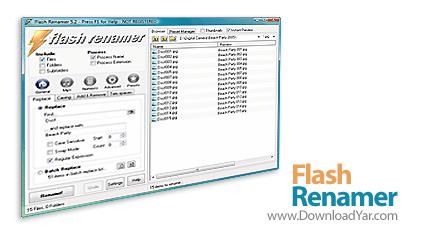 دانلود Flash Renamer v6.41 - نرم افزار تغییر نام دسته ای فایل ها
