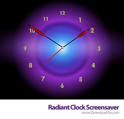 دانلود Radiant Clock ScreenSaver v2.3 - محافظ صفحه نمایش ساعت درخشان