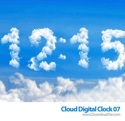 دانلود Cloud Digital Clock 07 v1.1 - اسکرین سیور ساعت ابری