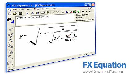 دانلود Efofex FX Equation v4.004 - نرم افزار تایپ آسان مسائل ریاضی