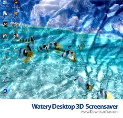 دانلود Watery Desktop 3D Screensaver v3.15 - اسکرین سیور میزکار پر از آب