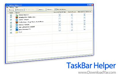 دانلود TaskBar Helper v2.1 - نرم افزار کنترل کامل برنامه های در حال اجرا