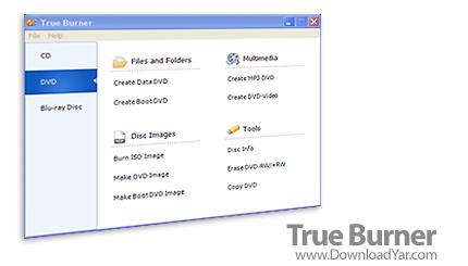 دانلود True Burner v1.1 - نرم افزار كپی و رایت DVD ،CD و دیسک های Blu-Ray
