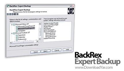 دانلود BackRex Expert Backup v2.8.147 - نرم افزار تهیه نسخه پشتیبان از تنظیمات ویندوز و آفیس