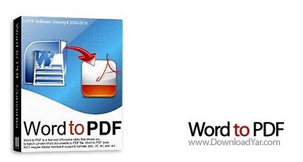 دانلود A-PDF Word To PDF v4.9.0 - نرم افزار ایجاد فایل های PDF حرفه ای از فایل های Word