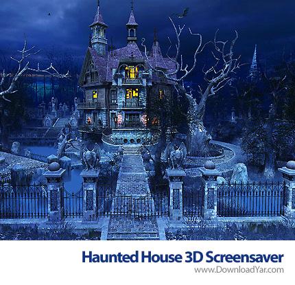 دانلود Haunted House 3D Screensaver v2.0.0.6 - محافظ صفحه نمایش خانه متروکه