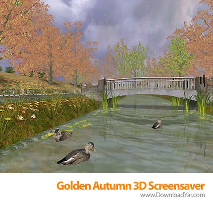 دانلود Golden Autumn 3D Screensaver - اسکرین سیور شبیه سازی فصل پاییز