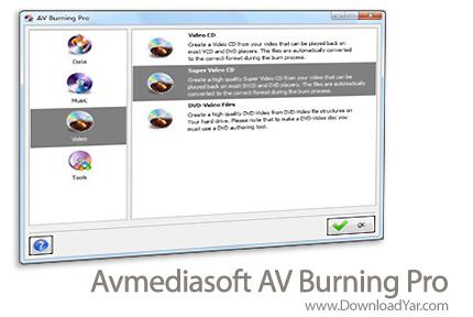 دانلود Avmediasoft AV Burning Pro v3.1.1 - نرم افزار رایت اطلاعات