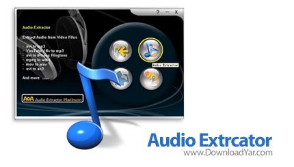 دانلود AoA Audio Extractor Platinum v2.2.8 - نرم افزار استخراج فایل های صوتی از فایل های ویدئویی