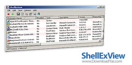 دانلود ShellExView v1.50 - نرم افزار مدیریت اکستنشن های ویندوز
