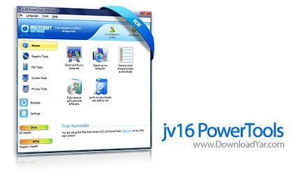 دانلود jv16 PowerTools 2010 v2.0.0.986 - نرم افزار بهینه سازی ویندوز